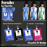 *SCRUBS* Hospital ID Badge - Medical - Clinic - Doctor - Nurse