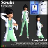 *SCRUBS* Hospital Set - Lab Coat, Scrubs, Stethoscope, ID Badge, Doctor