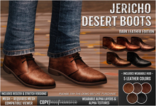 {COLD-ASH} Mens MESH JERICHO Desert Boots (Dark)