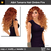 * Thanksgiving 2014 Sale * A&A Tamarra Hair Ombre Fire (Special Color).  Long flexi curly hair