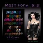 Mesh Pony Tails 48 Colors Pack