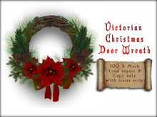 Boudoir Christmas -Christmas Door Wreath