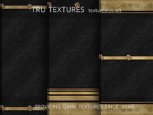 16 Seamless Black Gold Leaf Bordered Wallpaper Textures - 512 x 512 Pixels