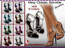 !FP! Meg Classic Sandals High Heels - HUD 8 Colors - For Slink HIGH Feet