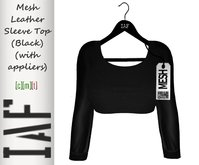 IAF Mesh Leather Sleeve Top (Black) (with appliers)
