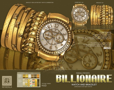 UNISEX [MANDALA]BILLIONAIRE-WATCH_New-Rich(GOLD)