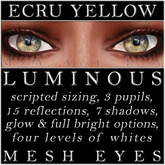 Mayfly - Luminous - Mesh Eyes (Ecru Yellow)