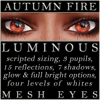Mayfly - Luminous - Mesh Eyes (Autumn Fire)
