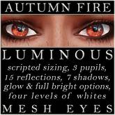 Mayfly - Luminous - Mesh Eyes (Autumn Fire)