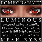 Mayfly - Luminous - Mesh Eyes (Pomegranate)