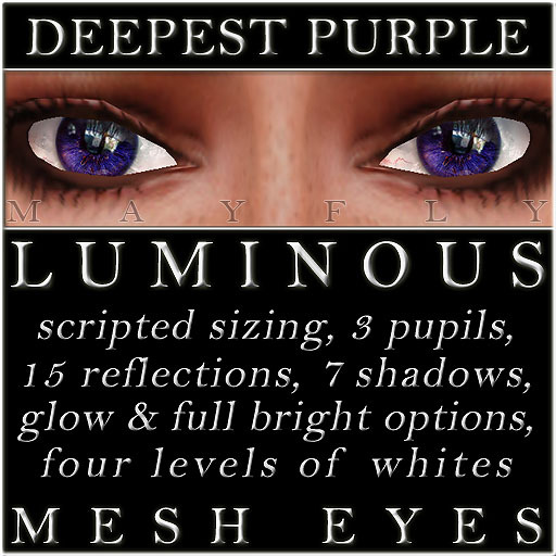 Mayfly - Luminous - Mesh Eyes (Deepest Purple)