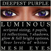 Mayfly - Luminous - Mesh Eyes (Deepest Purple)