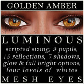 Mayfly - Luminous - Mesh Eyes (Golden Amber)