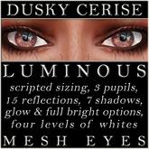 Mayfly - Luminous - Mesh Eyes (Dusky Cerise)