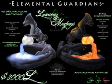 -Elemental Guardians:Lunaea & Magmys- by Khyle Sion at ~Refined Wild~