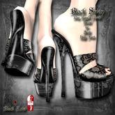 ~Black Arts~Black Swan Stilettos Lace Slink High Feet