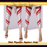 The Seventh Exile - Dipped Candy Cane Socks: Peanut Butter - Slink Physique Appliers ONLY!