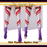 The Seventh Exile - Dipped Candy Cane Socks: Grape - Slink Physique Appliers ONLY!