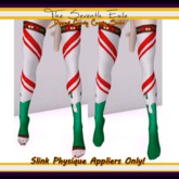 The Seventh Exile - Dipped Candy Cane Socks: Mint - Slink Physique Appliers ONLY!