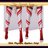 The Seventh Exile - Dipped Candy Cane Socks: Cherry - Slink Physique Appliers ONLY!
