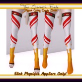 The Seventh Exile - Dipped Candy Cane Socks: Caramel - Slink Physique Appliers ONLY!