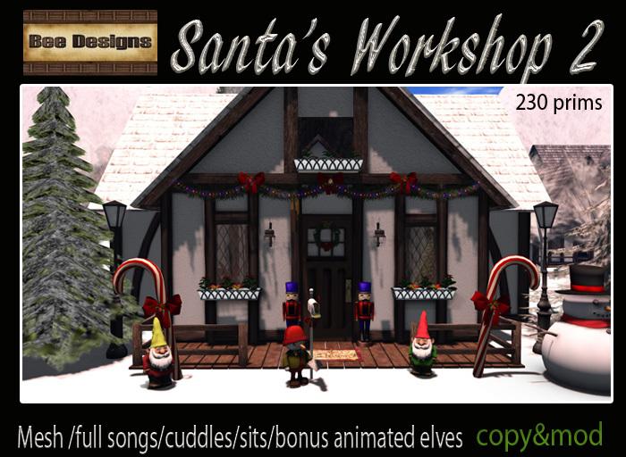 .:Bee Designs :. Santa's Workshop 2-box