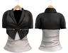 Blueberry Chlo - Crop Jacket & Optional Undershirts (Belleza Venus and Lola's Compatible) Black