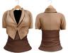 Blueberry Chlo - Crop Jacket & Optional Undershirts (Belleza Venus and Lola's Compatible) Beige
