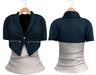 Blueberry Chlo - Crop Jacket & Optional Undershirts (Belleza Venus and Lola's Compatible) Midnight