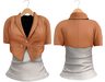 Blueberry Chlo - Crop Jacket & Optional Undershirts (Belleza Venus and Lola's Compatible) Orange