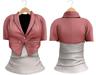 Blueberry Chlo - Crop Jacket & Optional Undershirts (Belleza Venus and Lola's Compatible) Pink