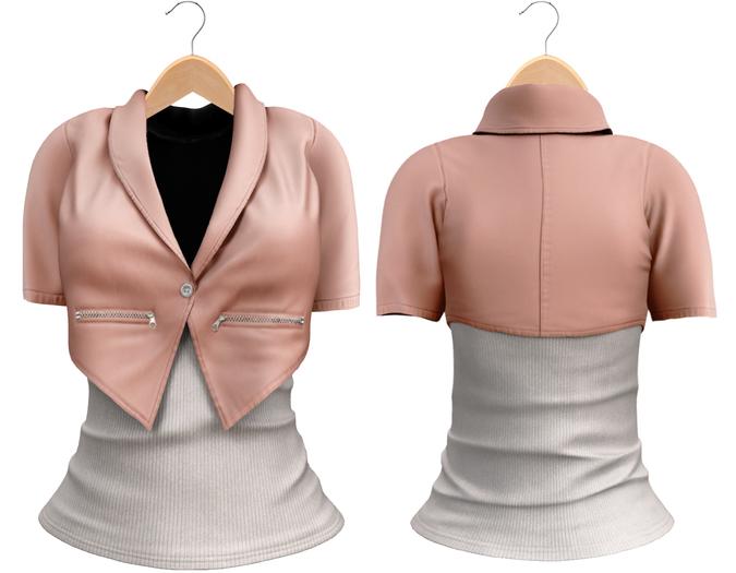 Blueberry Chlo - Crop Jacket & Optional Undershirts (Belleza Venus and Lola's Compatible) Pixie