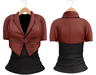 Blueberry Chlo - Crop Jacket & Optional Undershirts (Belleza Venus and Lola's Compatible) Red