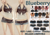 Blueberry - Chlo - Crop Jackets & Belted Shorts (Belleza Venus Compatible) FAT PACK