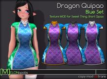 [M] Dragon Qipao // Blue Set [for Sweet Thing. Short Qipao]
