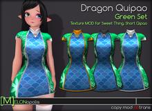 [M] Dragon Qipao // Green Set [for Sweet Thing. Short Qipao]