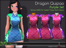 [M] Dragon Qipao // Purple Set [for Sweet Thing. Short Qipao]