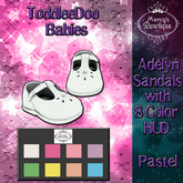 Mercy's Bowtique Adelyn Sandals Toddleedoo baby {Pastel Pack}