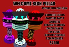ANIMATED WELCOME SIGN PILLAR