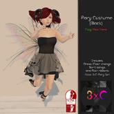 3xC-Fairy Costume {Black}