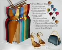 !Soul - 8 Mesh Dress Outfits in 1 +Shoe+Bag+Appliers B.1