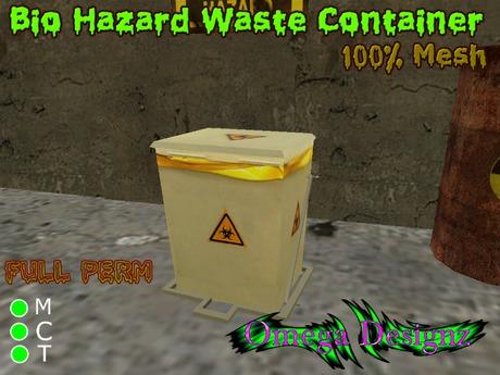 Bio Hazard Waste Container (Mesh) Full Perm