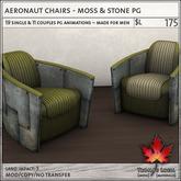 Trompe Loeil - Aeronaut Chair Moss & Stone PG [mesh]