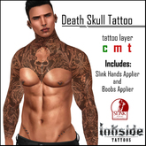 Inkside Tattoos - Death Skull Tattoo with Slink Hand Appliers and Lolas Applier