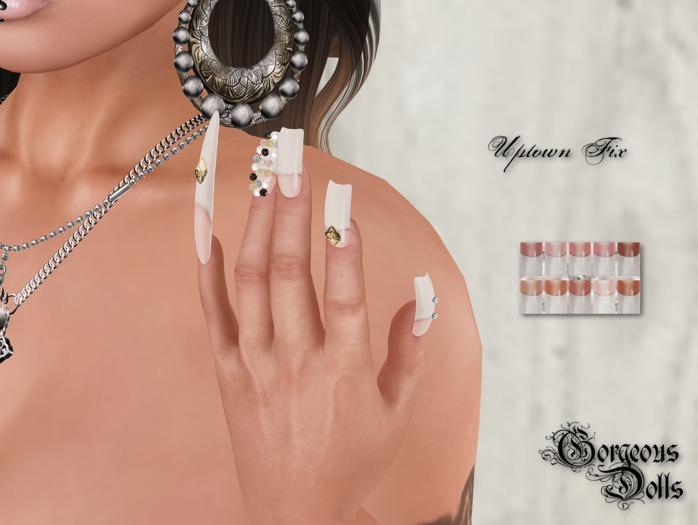 ~GD~Uptown Fix(Natural Tips) - Slink Elegant 1 Mesh Hands