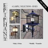 3 Pairs of Wall Lamps, 3 Selections - Hi Res (100% Mesh, 1 prim)