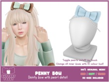 -Buttery Toast- Penny Bow - Blue