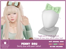 -Buttery Toast- Penny Bow - Pea Green