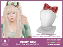-Buttery Toast- Penny Bow - Red