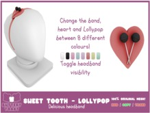 -Buttery Toast- Sweet Tooth headband - Lollypop